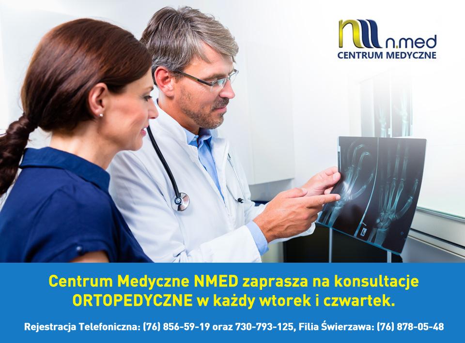 Konsultacje ortopedyczne wtorek i czwartek w Centrum Medycznym NMED